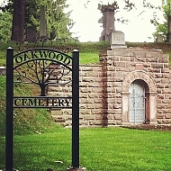Oakwood Cemetery Sign