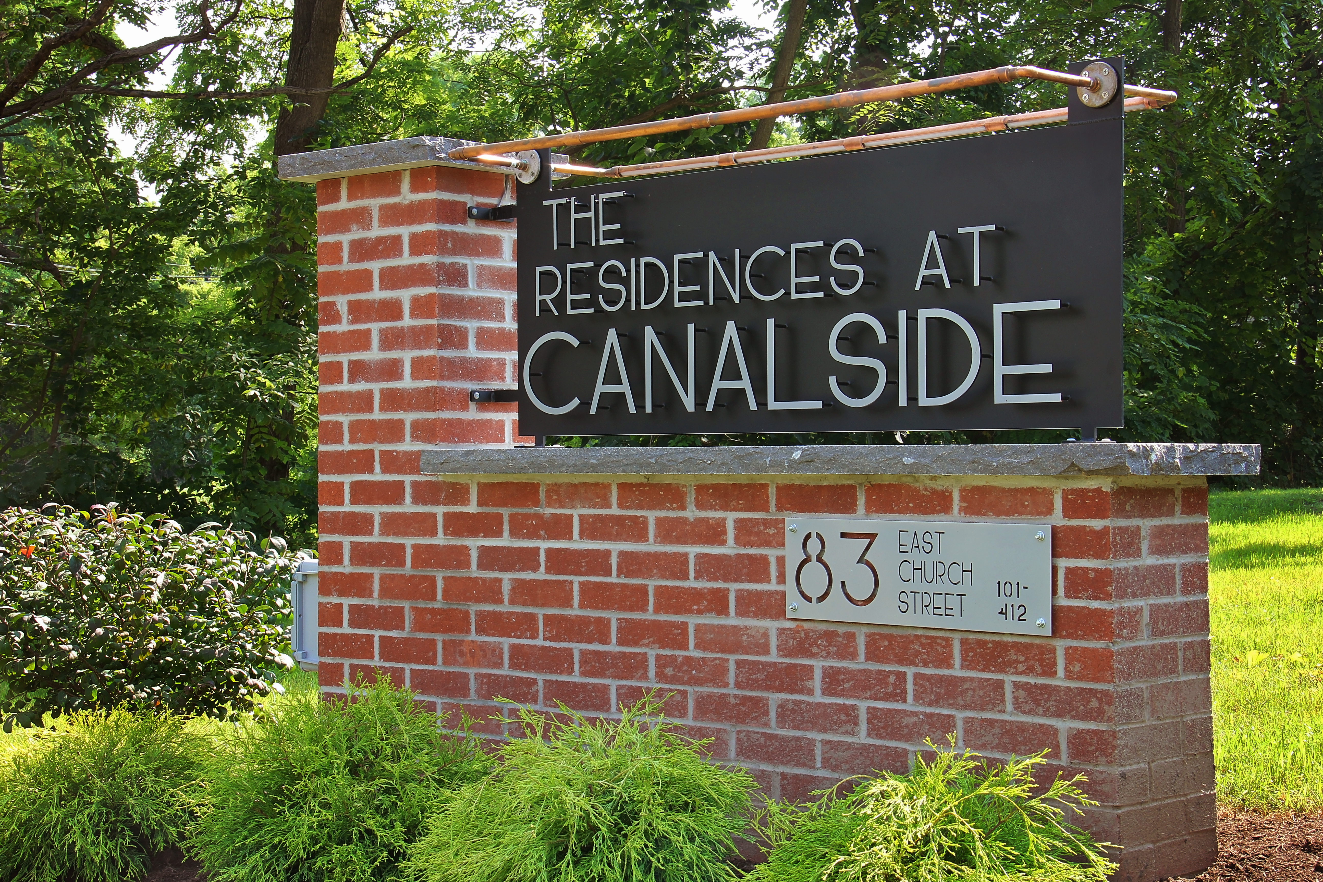 Residences at Canalside Signage