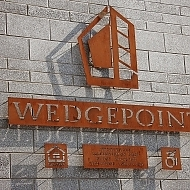 Wedge Point  Wall Sign