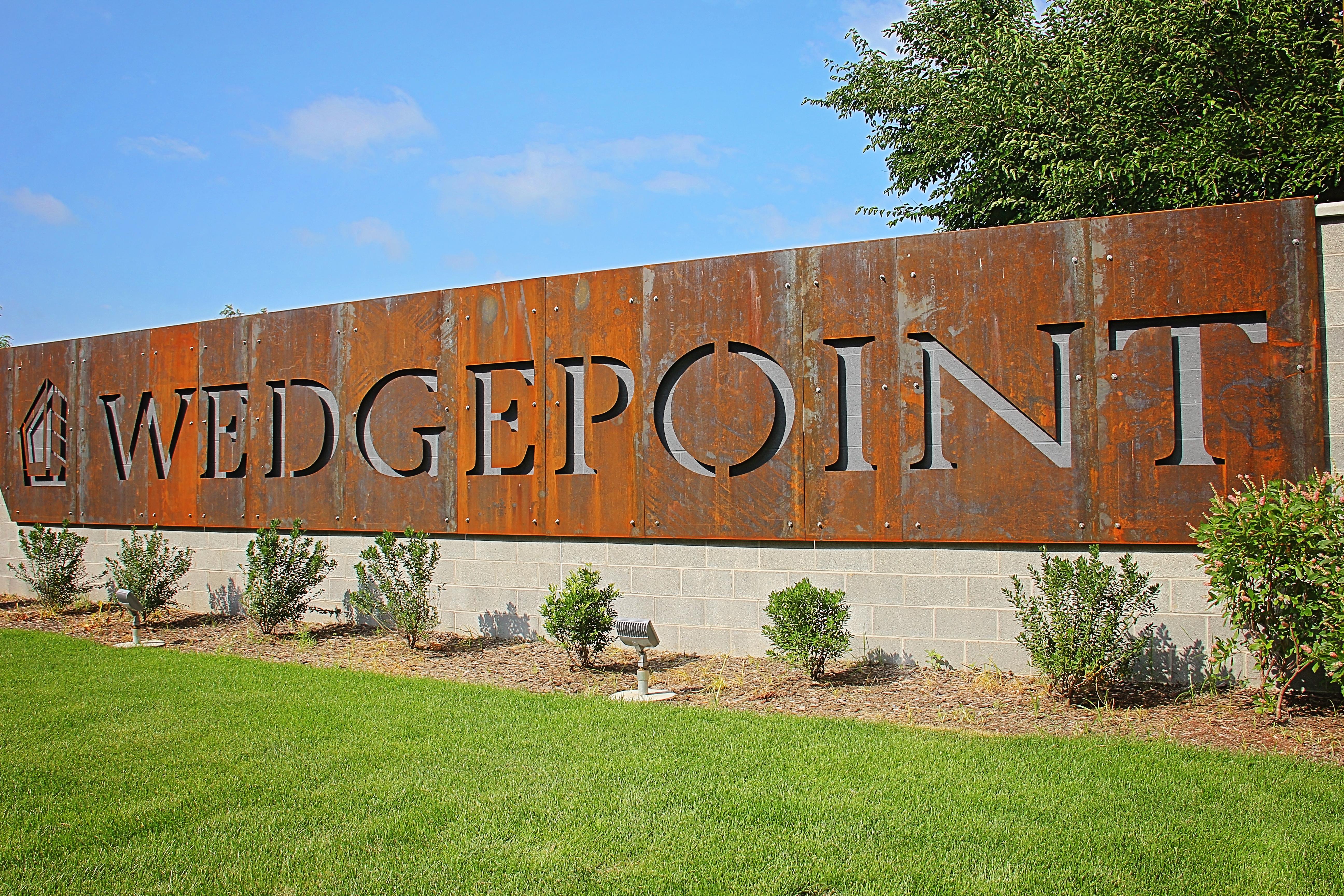 Wedge Point Corten Signage